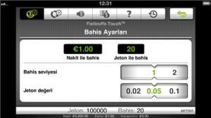 mobil casino oyun ayarı